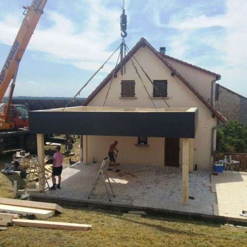 Bassing - 30m2 - Extension - ossature bois Moselle Lorraine - prix extension maison 30m2