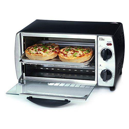 Elite Cuisine 4 Slice Stainless Steel Toaster Oven Broiler