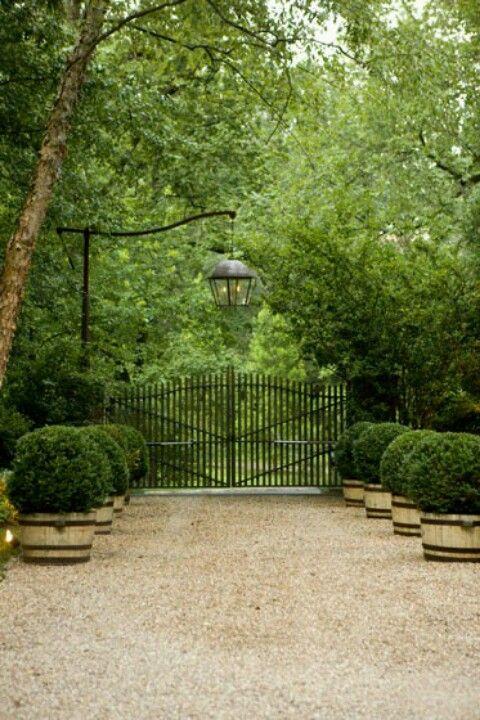 Lantern over gate.   gardens, outdoor spaces, etc.   Pinterest ...