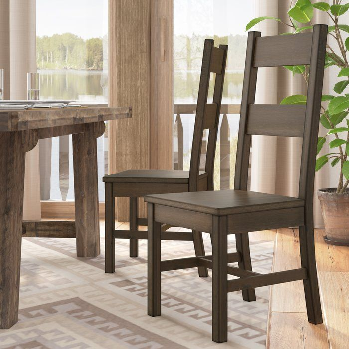 Bomstad Golden Brown Accent Chair Wayfair: Omie Solid Wood Dining Chair (Set Of 2)
