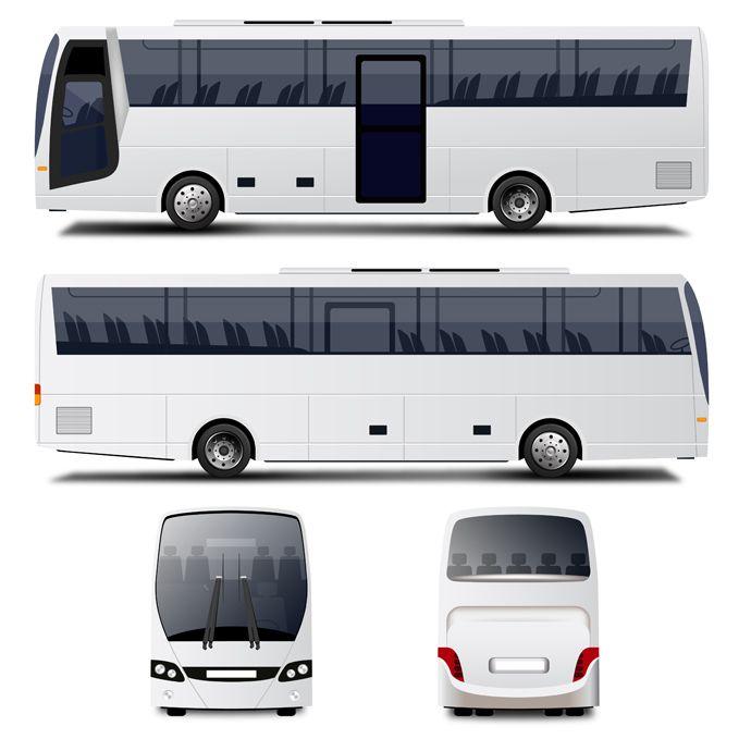 Vector Bus Free Vector Psd Bus Bus Advertising Mockup