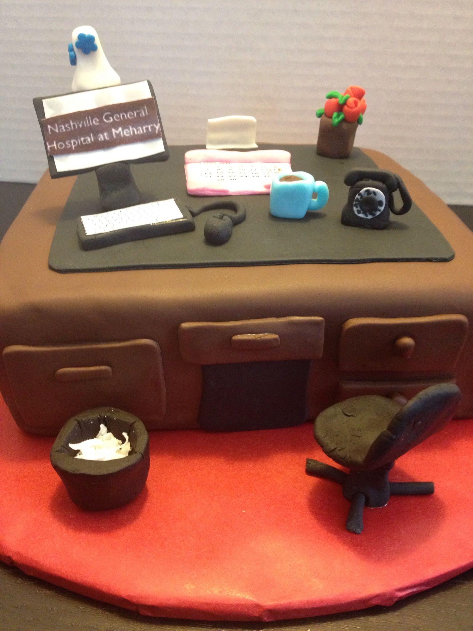 Office desk cake mesa de postres para boda tortas