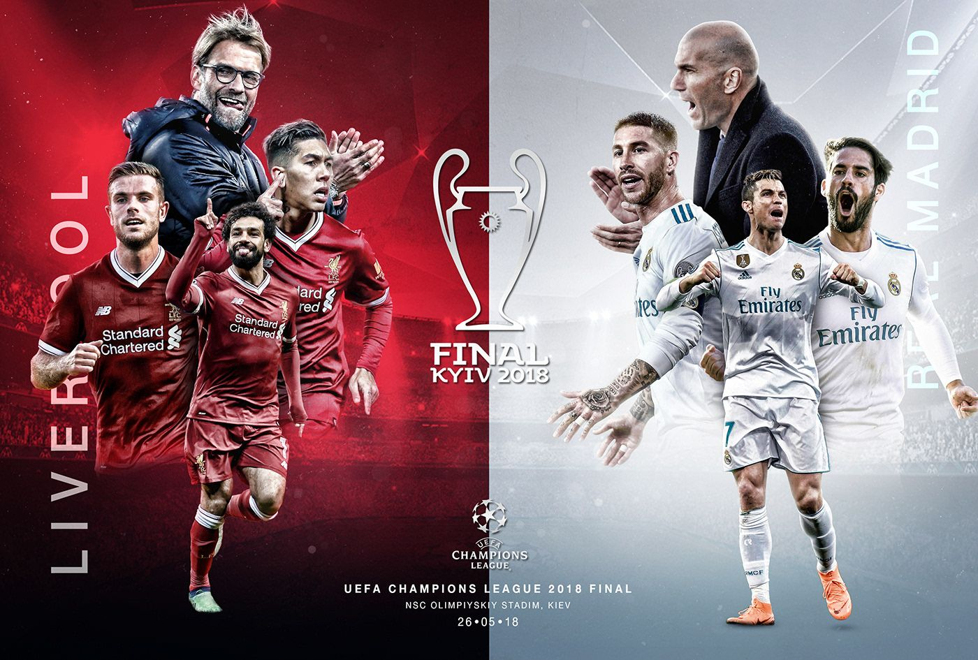 Check Out My Behance Project Uefa Champions League Final 2018