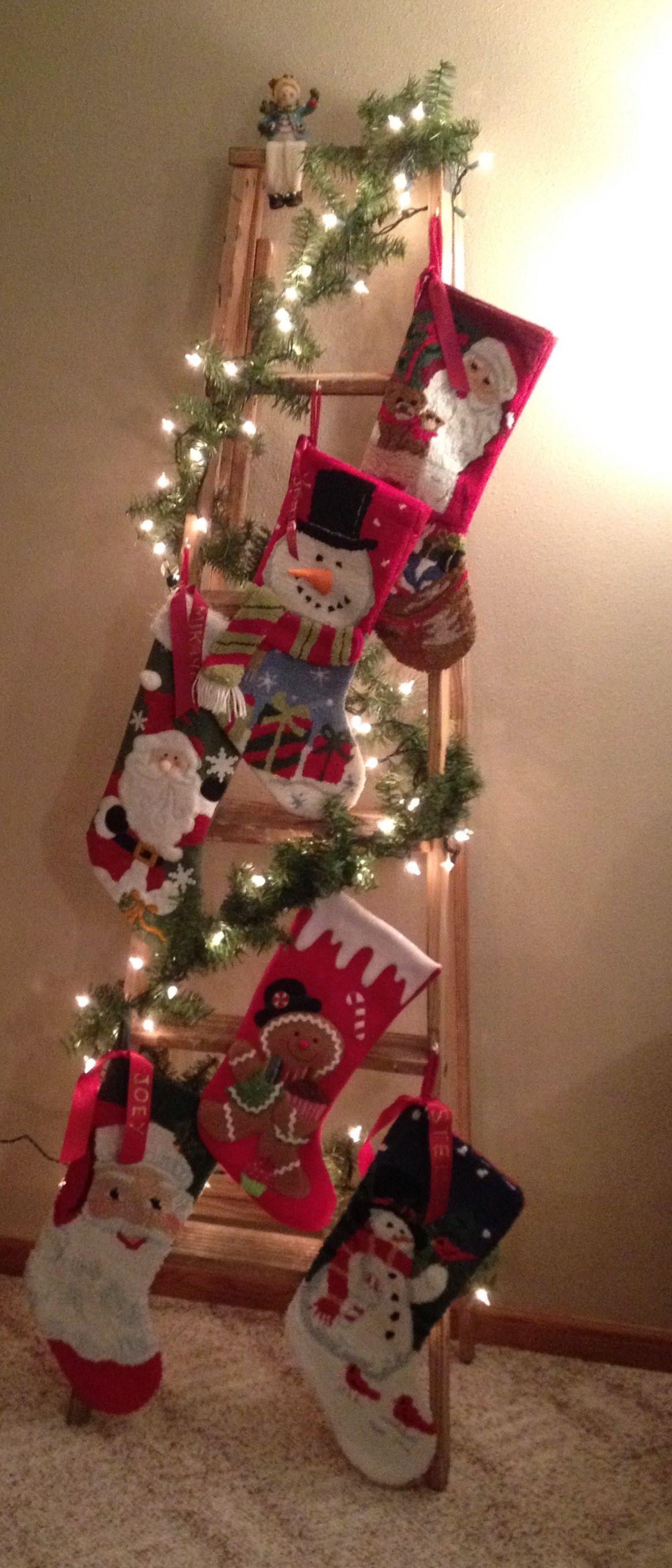 My Christmas Stocking Ladder 2016 Christmas decor diy