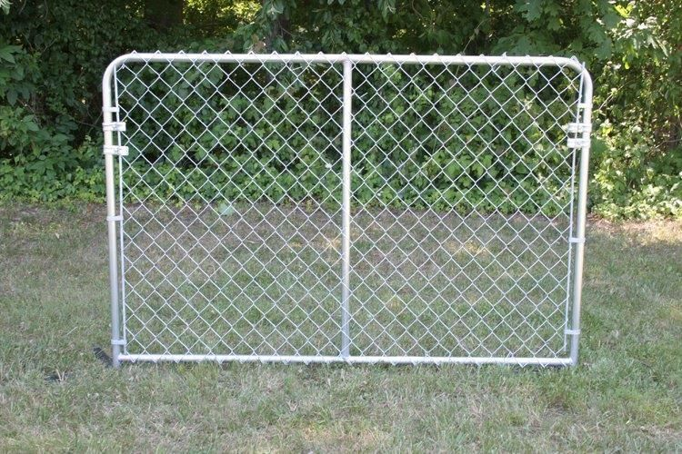 6 ft x 4 ft Silver Series Galvanized Steel Kennel Panel