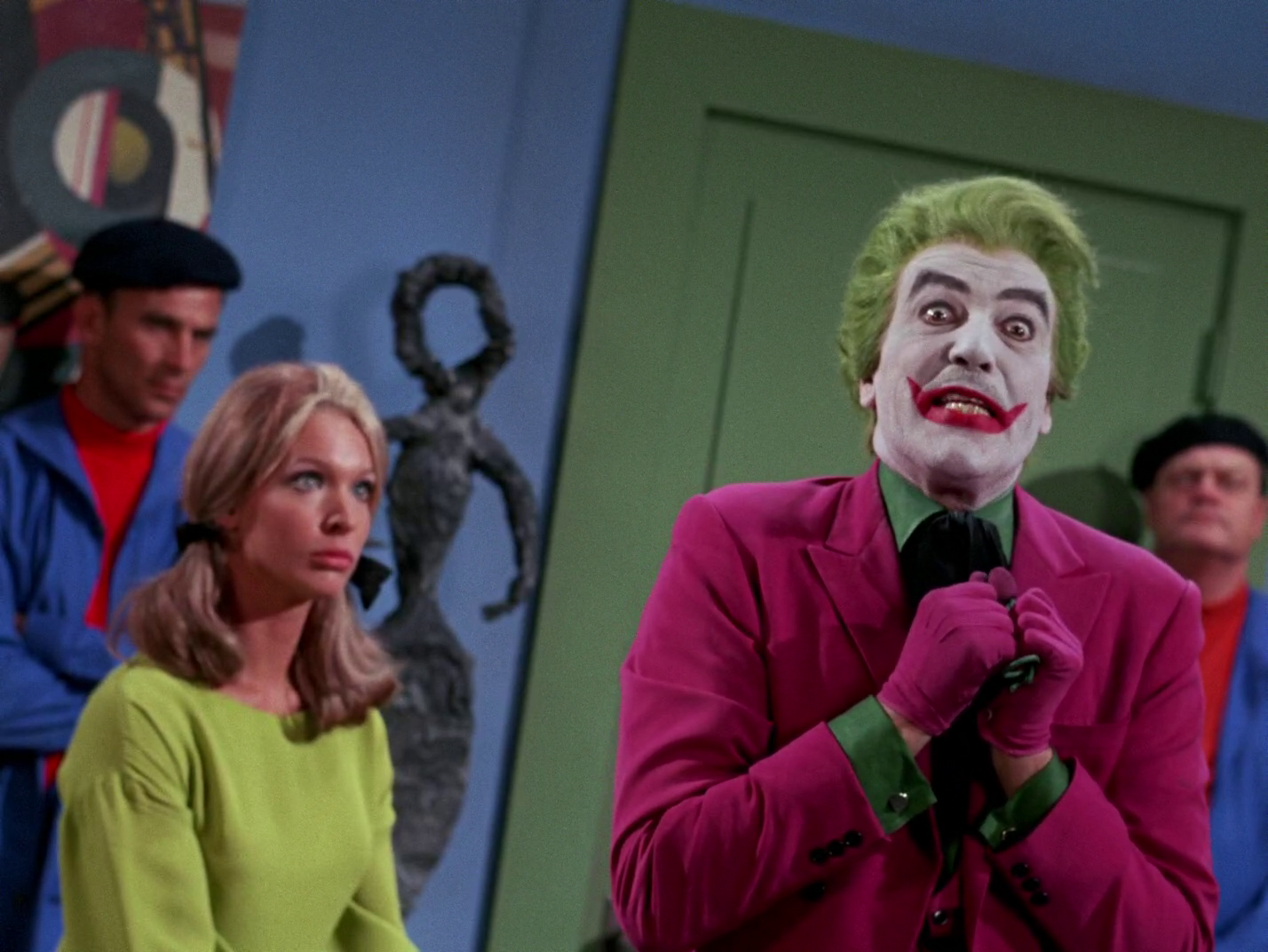 Batman,  Flop Goes the Joker   Episode aired 23 March 1967 Season 2   Episode 58, Cesar Romero. The Joker