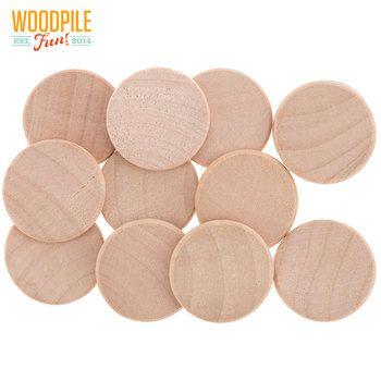 1 X 18 Birch Circles Temporary Dollhouse Renovation Wood
