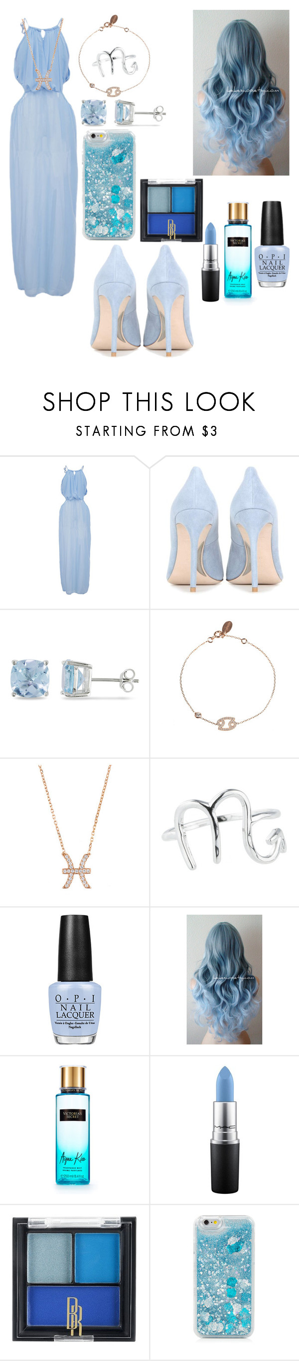 """Water💧"" by ninellaah ❤ liked on Polyvore featuring Miu Miu, Ice, Latelita, Rock 'N Rose, OPI, Victoria's Secret, MAC Cosmetics and Black Radiance"