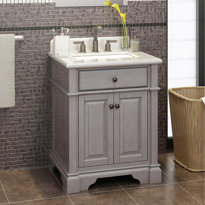 Casanova 28 Antique Gray Vanity By Lanza Gray Vanity Bathroom Makeover Bathroom Vanity