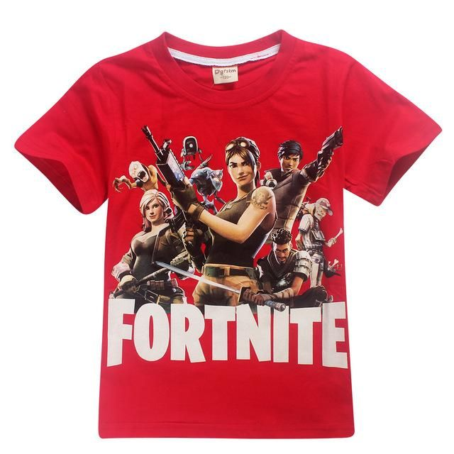 ada2a2242 2018 New Summer Fortnite T Shirts Pattern Eat Sleep Tops Baby Girls Boys  ROBLOX T-shirt Kids sport Clothes 12 14 Years