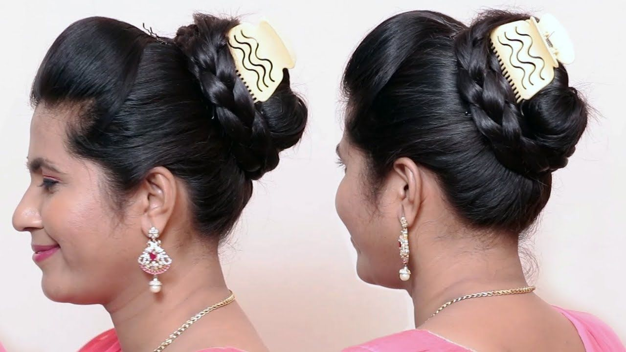 Party juda hairstyle   hair style girl   juda hairstyle   wedding hairst...   Bun hairstyles ...