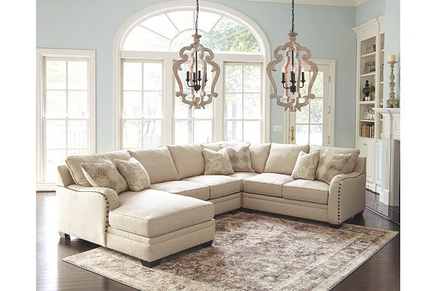 Luxora 4-Piece Sectional by Ashley HomeStore, Tan | House ideas ...