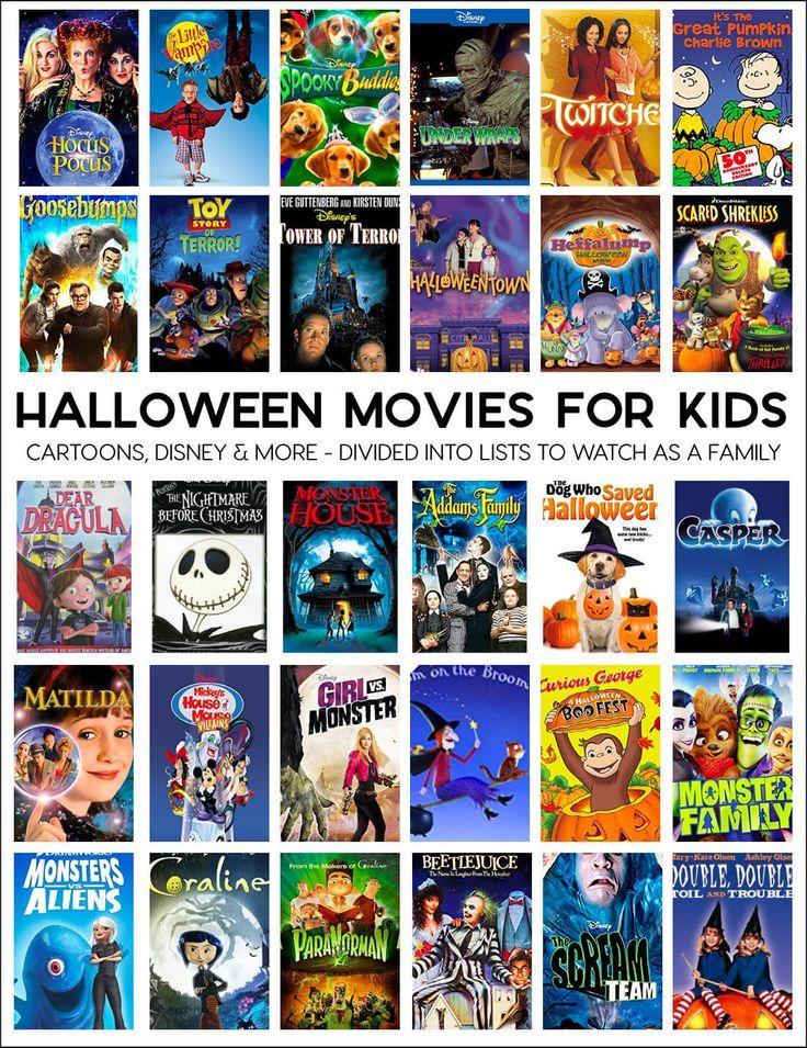 Halloween Movies for Kids Halloween movie night