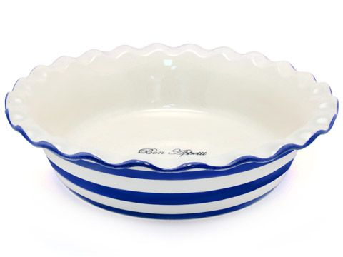 Robert Gordon - Le Chef Blue Stripes Fluted Pie Dish