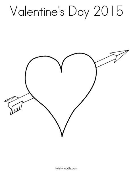 Valentine's Day 2015 Coloring Page - Twisty Noodle ...