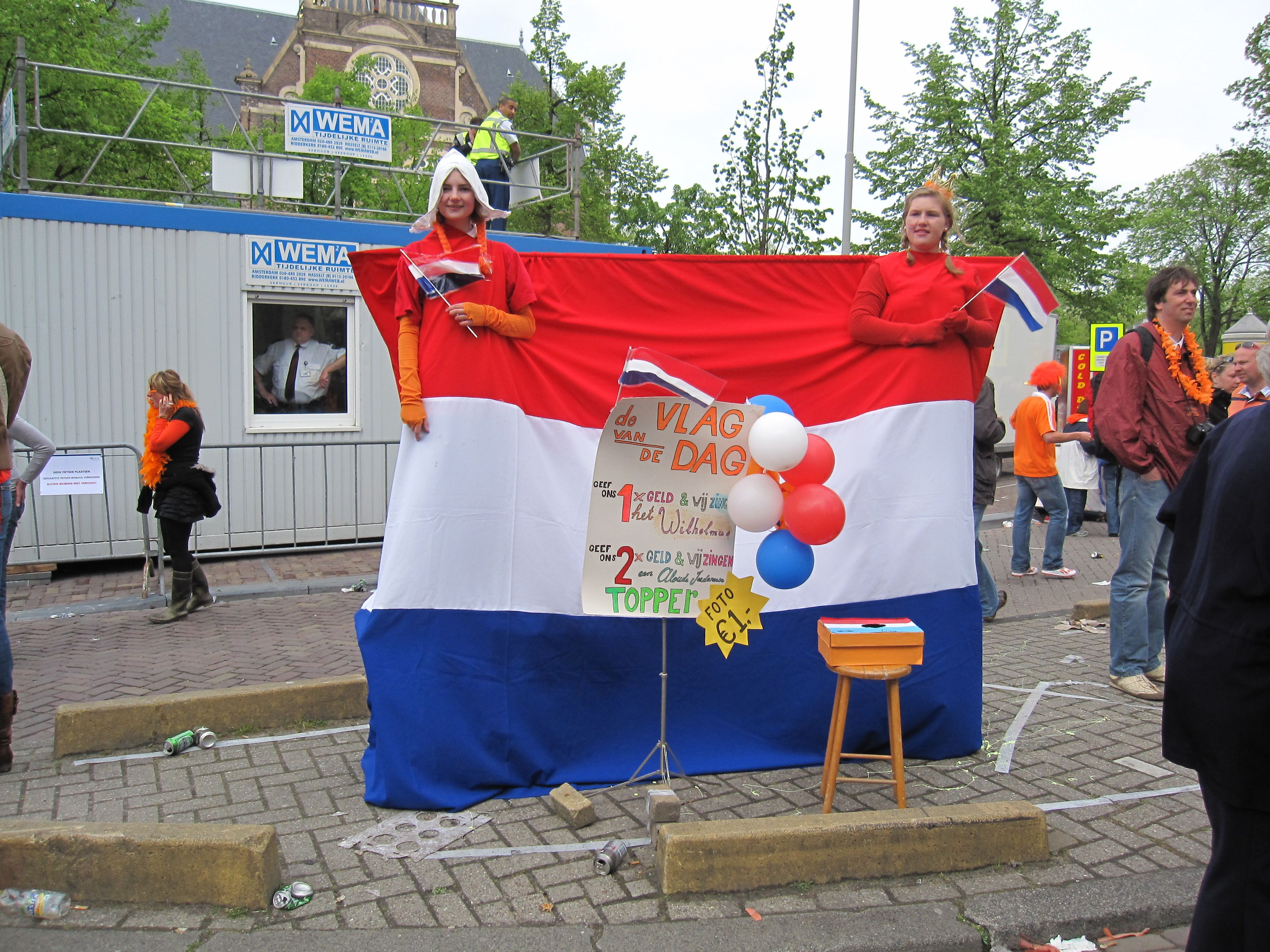 Queensday in Amsterdam, the Netherlands