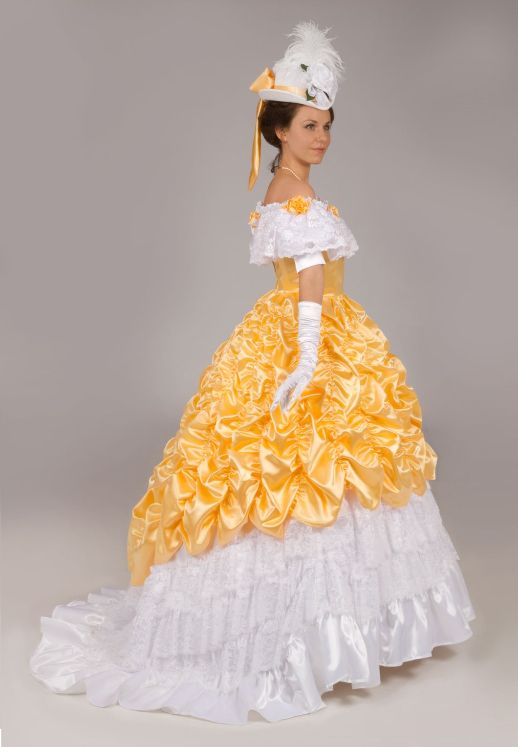 Victorian Satin and Lace Ball Gown Ball gowns, Victorian