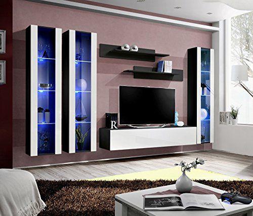 BMF Fly C1 Modern Hochglanz Wohnzimmer/Schlafzimmer/Studio Flach U2013 Möbel Set  U2013 Wohnwand