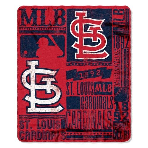 Saint Louis Cardinals St. Bold Logo Large Fleece Blanket