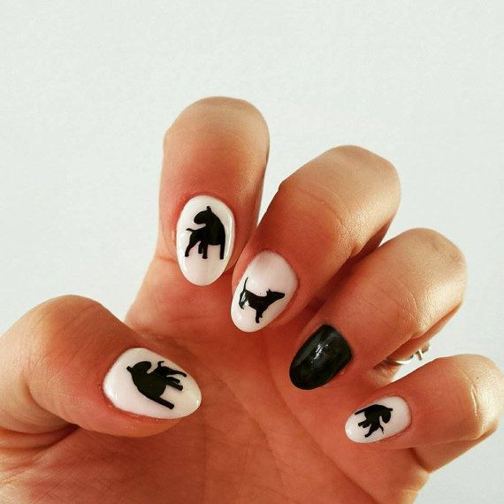Nail stickers-sheet Bull Terrier by PSIAKREW on Etsy | uñas ...