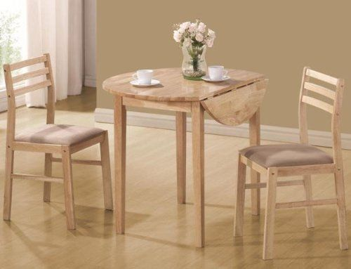 Coaster 3pc Dinette Table And Chairs Set In Natural Finish Coaster Home Furnishings Http W Kitchen Table Settings Wooden Table And Chairs Kitchen Dining Sets