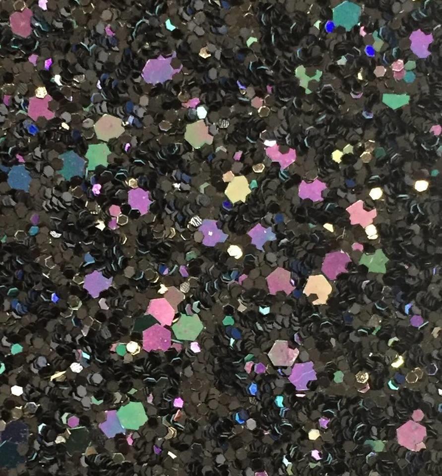 Glamour Range Black Iridescent Glitter Wallpaper