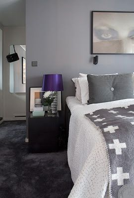 Sanna Fischer Home Beautifull Bedroom I Love The Black Wall To Carpet