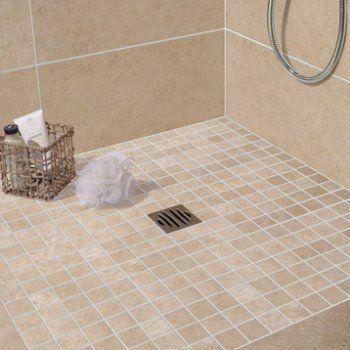 Mosaique Sol Et Mur Tivoli Beige Leroy Merlin Idee Salle De Bain Salle De Bains Avec Wc Sol Et Mur