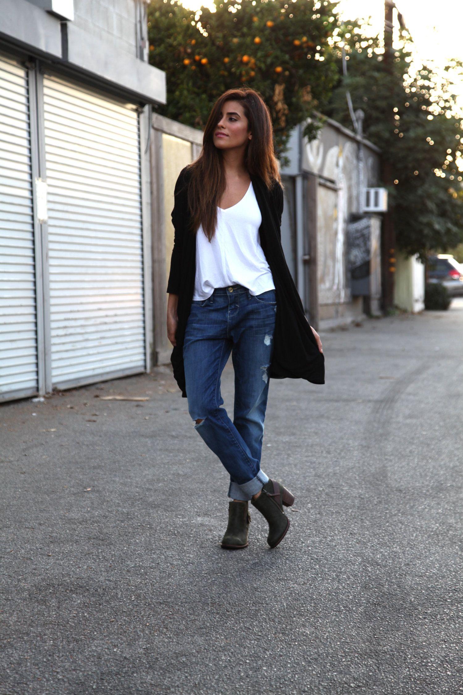 sazan-fall-style | Sazan | Pinterest | Boyfriend jeans, Ankle ...