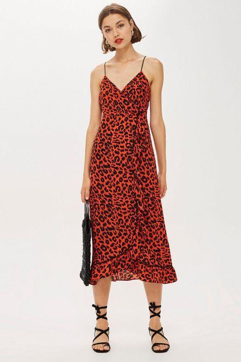 ca96063ae4 Animal Ruffle Slip Dress. Animal Ruffle Slip Dress Leo Print ...