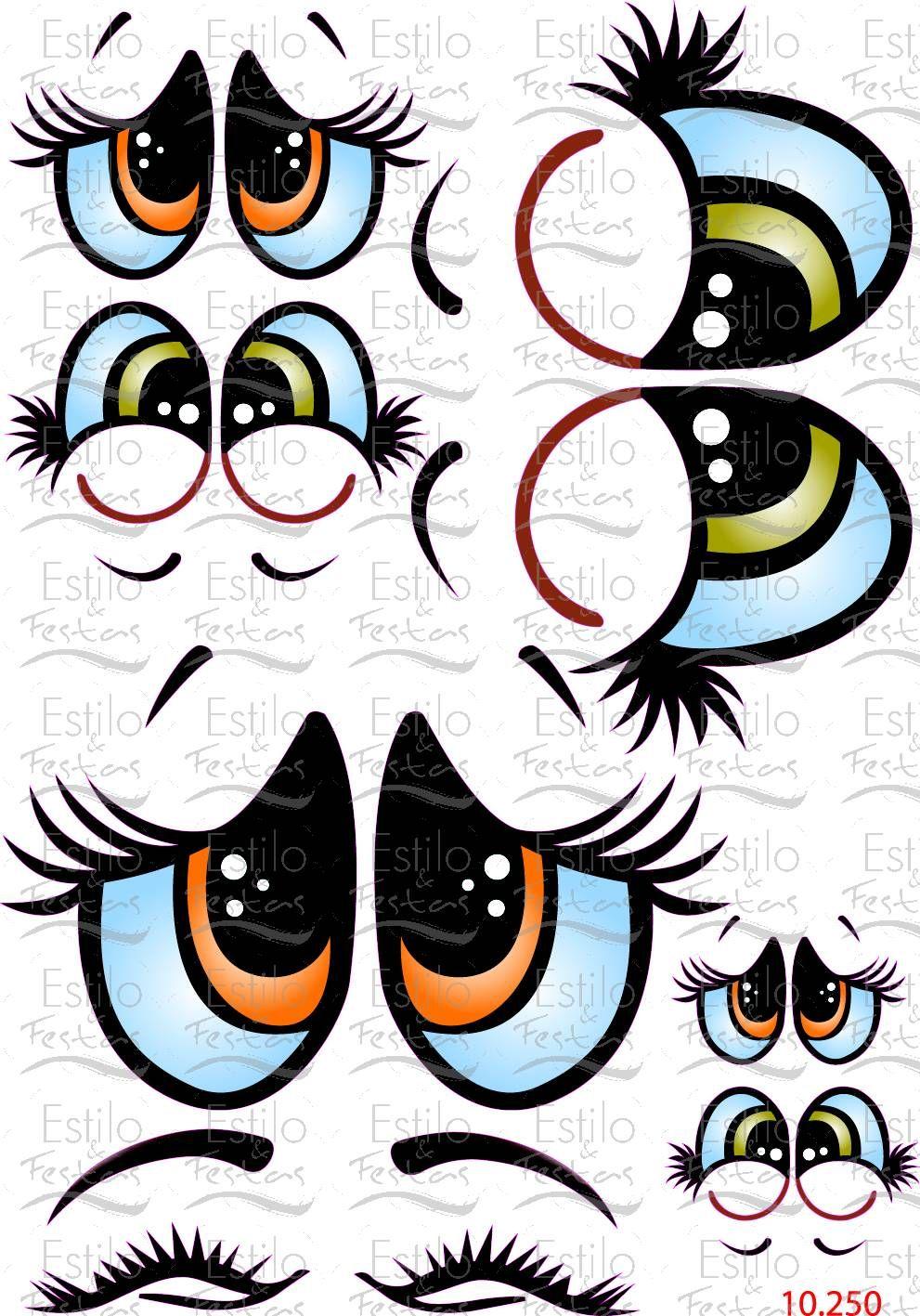 Adesivo Gato De Botas ~ Adesivo para bal u00e3o Cartela Olhos de anjo com Express u00e3o Acessorios para Festas Estilo e Festas