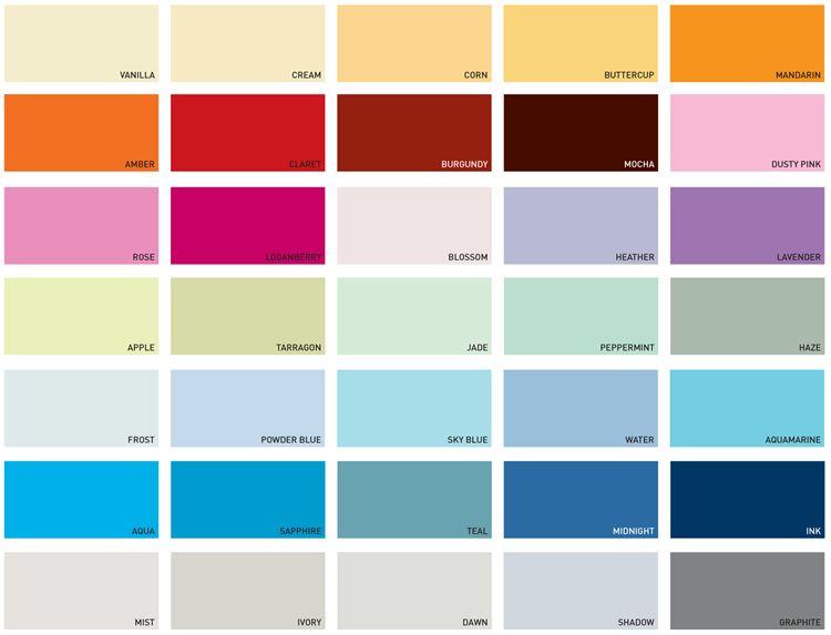 Colour Charts For Kitchens   Dulux paint colour charts ...