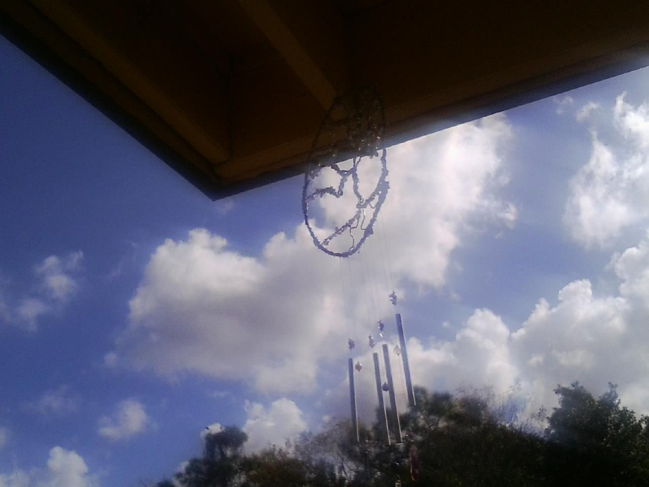 Hanging outside on my deck :)