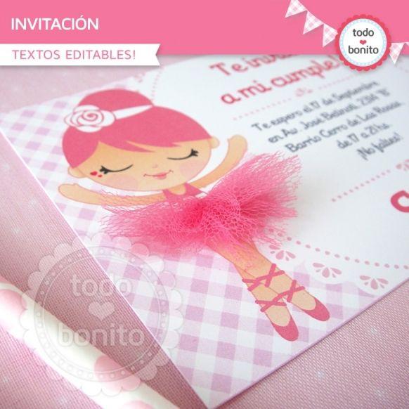 Bailarina Invitación Para Imprimir Invitaciones
