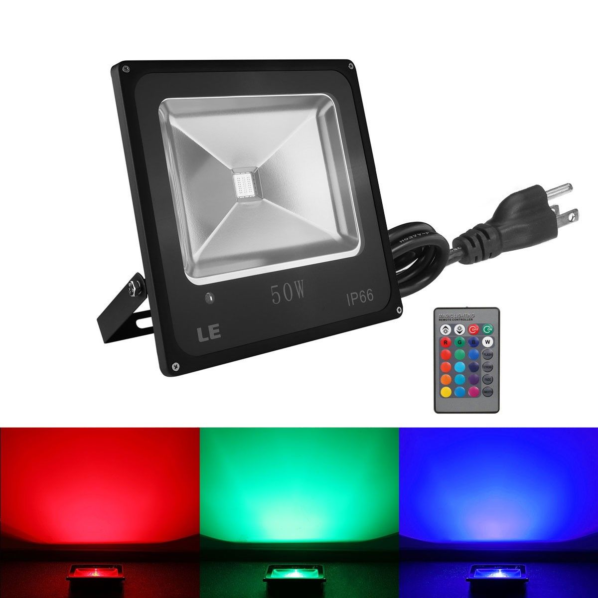50w Rgb Led Security Flood Lights Dimmable Color Changing 16