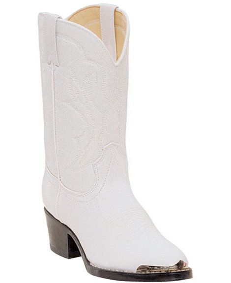 e659eb92f18 Durango Girls' White Cowgirl Boots - Round Toe | Little Cowboys and ...