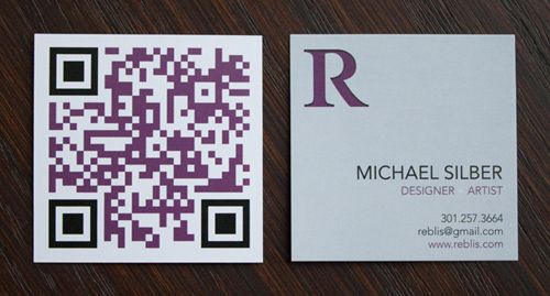 Have You Used Qr Codes Do You Use Them On Your Business Cards Why The Heck Not This I Qr Code Business Card Square Business Cards Printing Business Cards