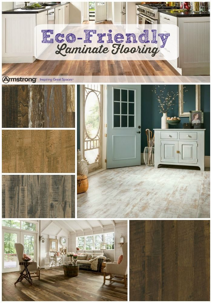 Armstrong laminate floors are an ecofriendly option for