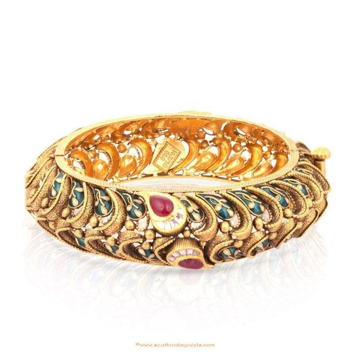 Gold Bangle Design From Malabar Gold & Diamonds