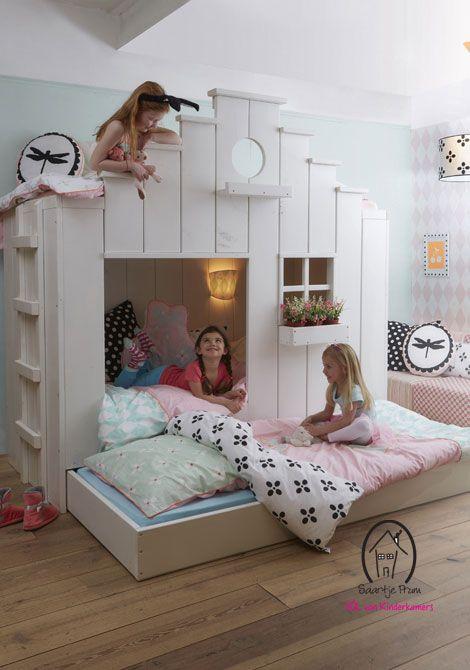 Adorable bunk beds beds pinterest kinderzimmer for Spielzimmer 5 sinne