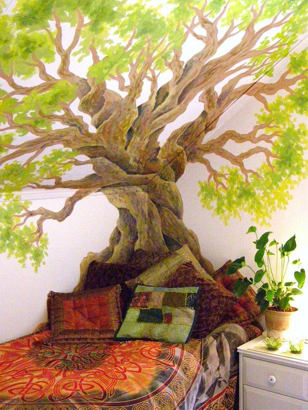 Tree Painted On The Walls And Ceiling Love It For