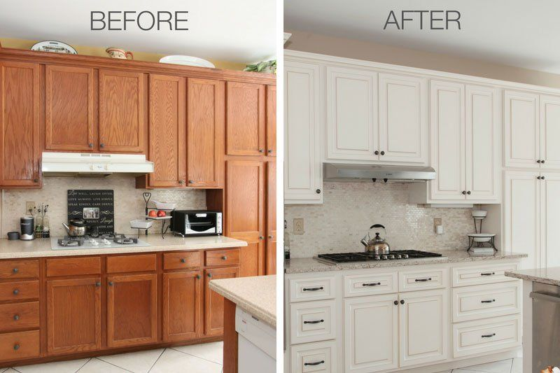 Amazing Kitchen Refacing Transformations With Before After Photos Kitchen Cabinets Before And After Kitchen Refacing Resurfacing Kitchen Cabinets