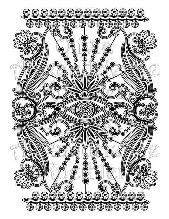 The Third Eye Is A Free Coloring Page That Coordinates With Wonders Of Nature An Adult Book Enjoy