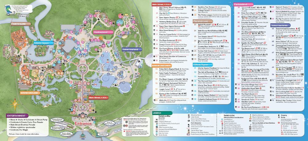 Disney Maps Including Pressed Penny Locations
