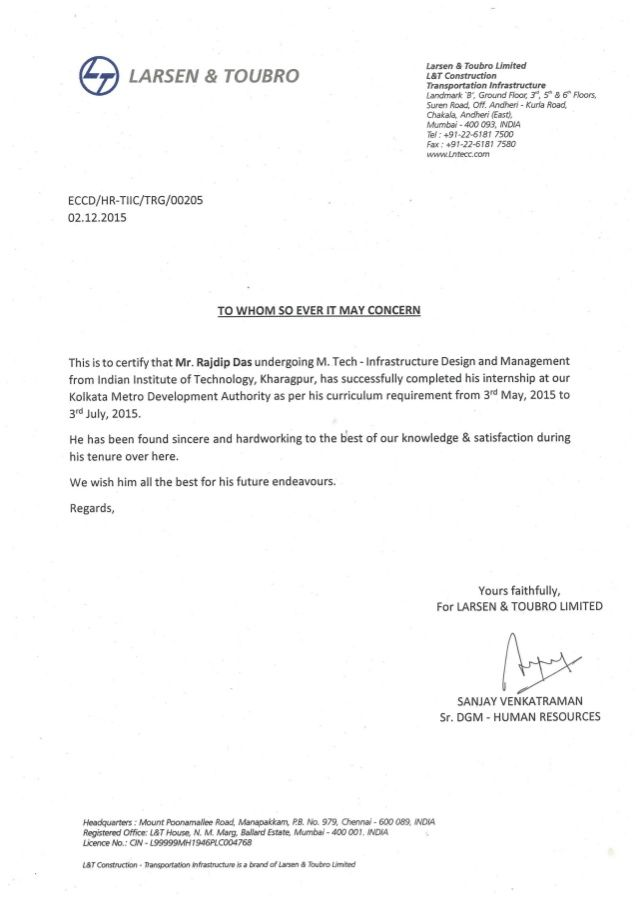 Completion Certificate Project Letter Internship Format Best