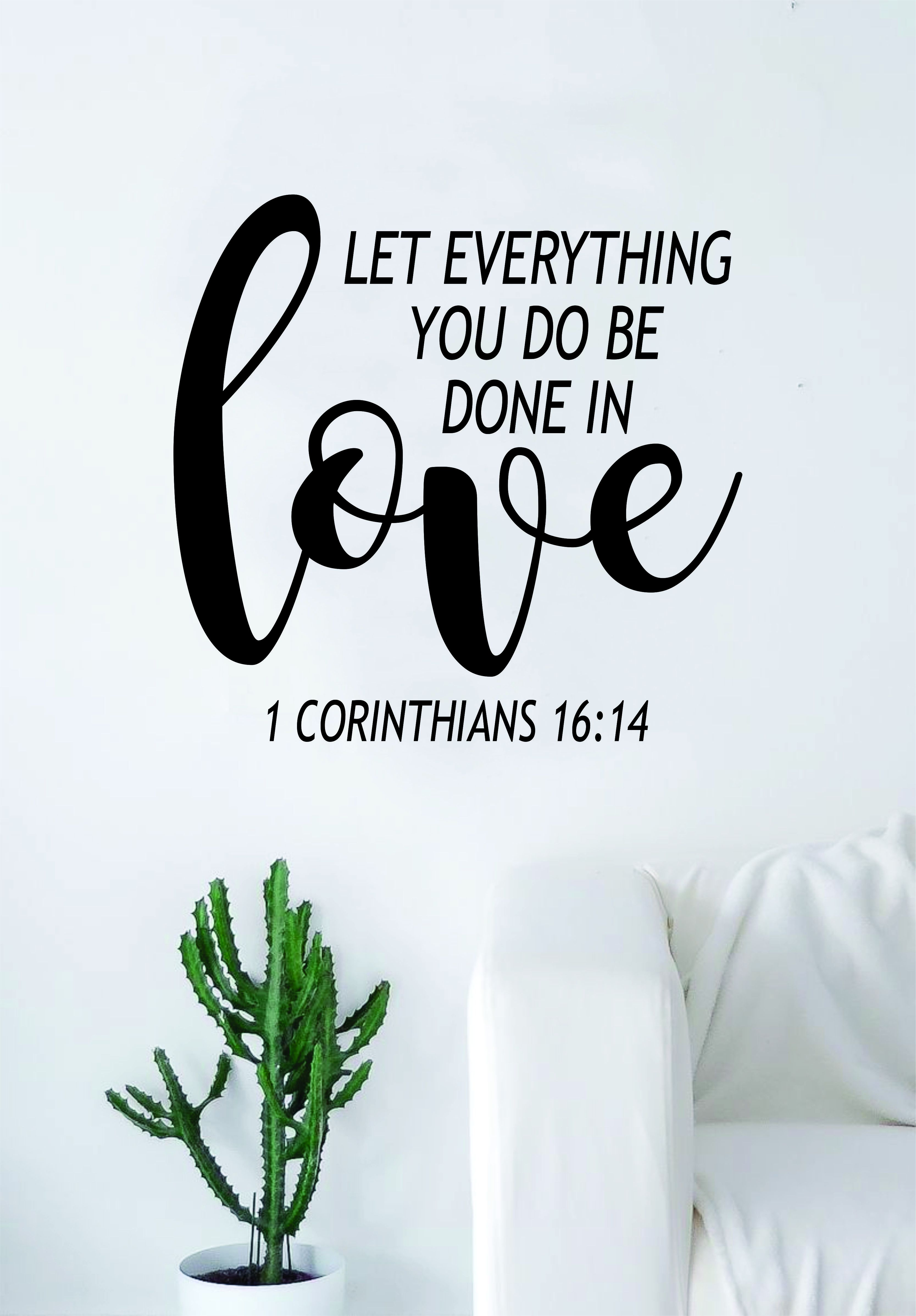 Done In Love Corinthians Quote Wall Decal Sticker Bedroom Art