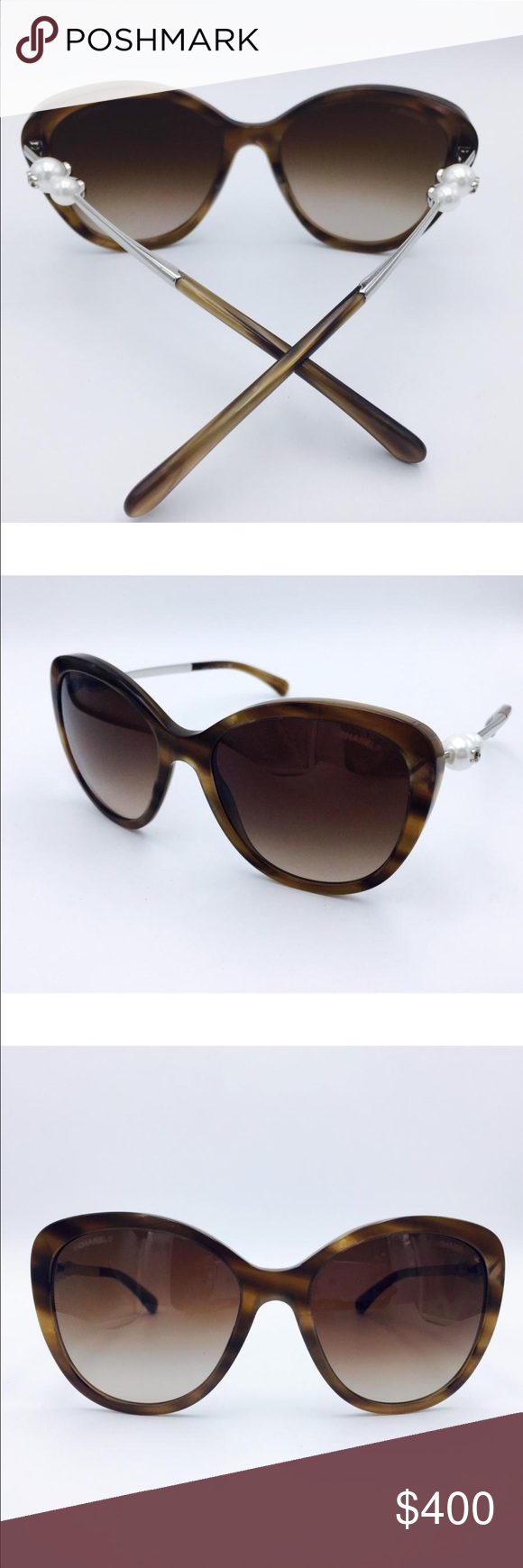 aacbbc628f0 Chanel rare Taupe pearl sunglasses 56 Stunning and classes Glasses are in  good condition. Very