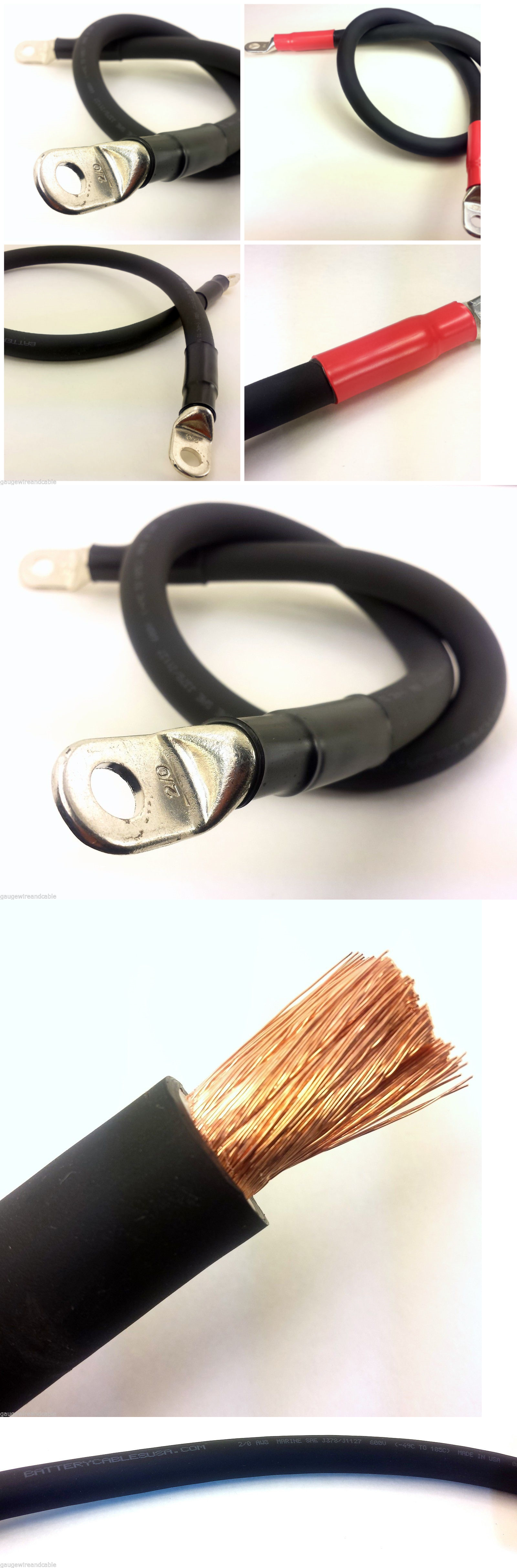 Other Electrical and Solar 3188: 2 0 Gauge Awg Copper Battery Cable ...