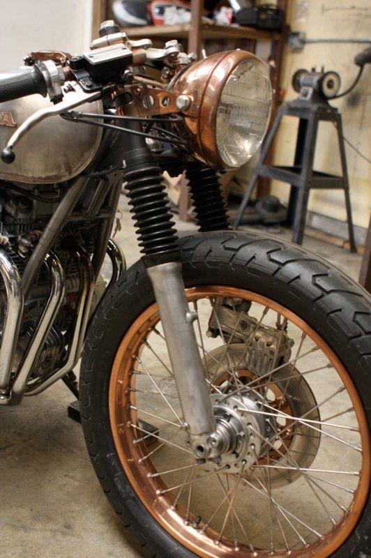 Brass Instead Of Chrome Cafe Racer Bmw Cafe Racer Vintage Bikes
