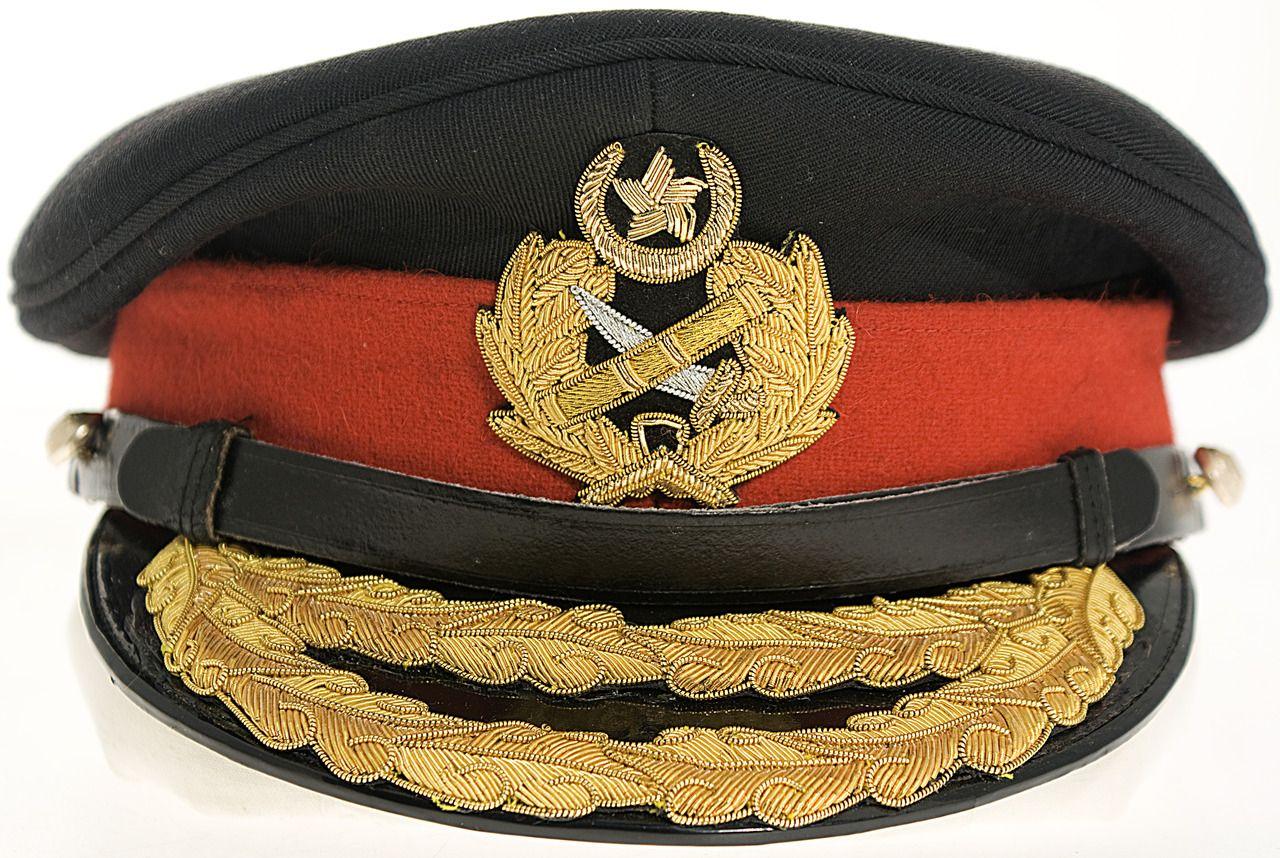 Pakistan Army generals  dress uniform visor cap.  94ceef4b0b8